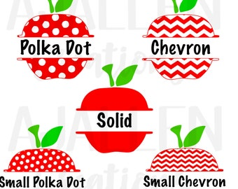 Apple Name Vinyl Decal or Iron On