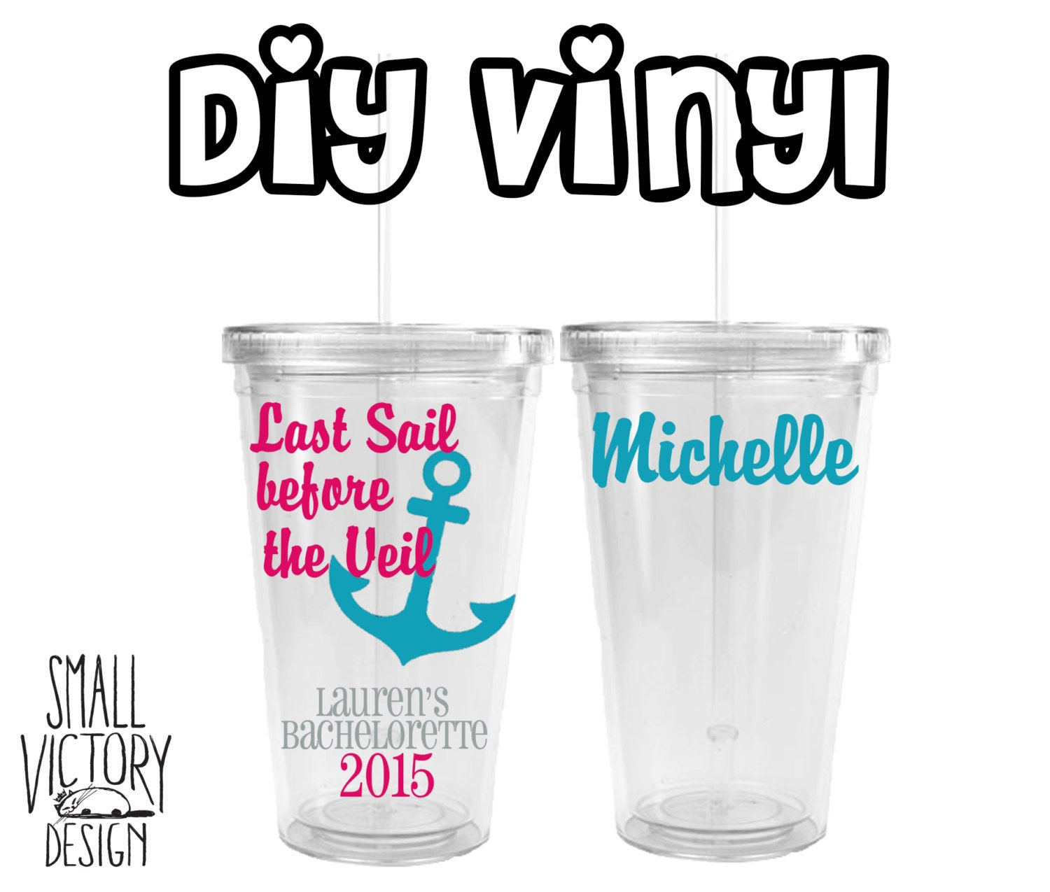 Last Sail Before The Veil Anchor Vinyl Decal DIY Vinyl - Vinyl stickers for glass jars