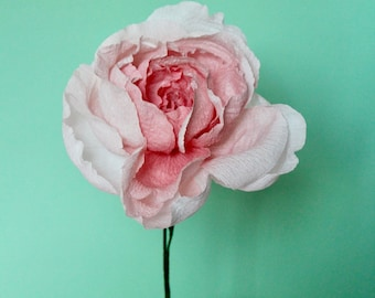 English Rose Paper Flower. Romantic, hand-crafted first anniversary gift