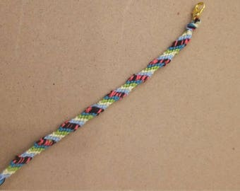 Pink stripe bracelet