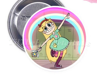 Star Butterfly - Your Choice of 2-1/4 inch Button Product Accessory