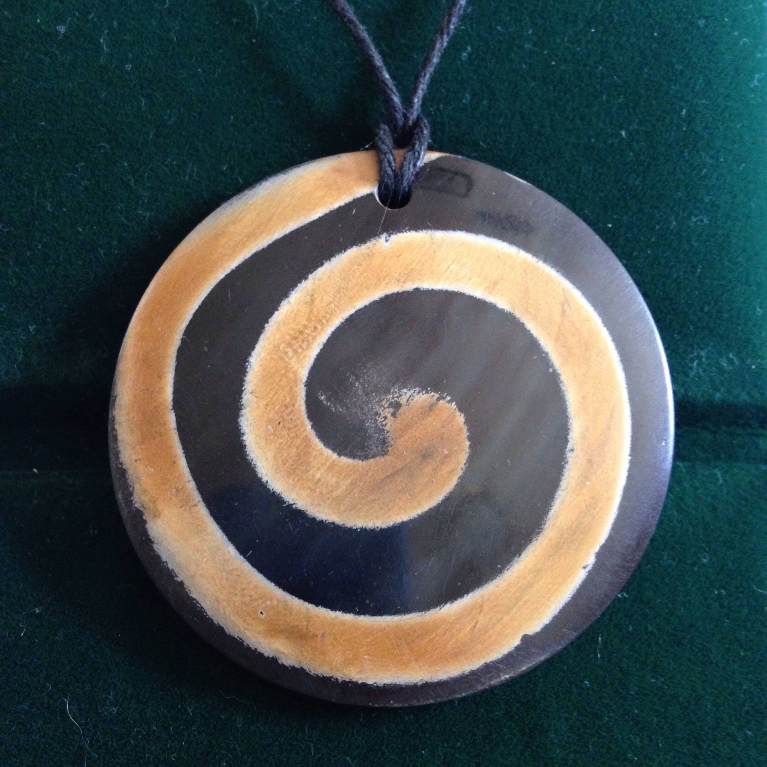 spiral pendant necklace p oval asp