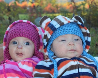 Buy two earflap hats for babies and save