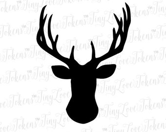 Buck Antlers SVG Design for Silhouette or other craft cutters (.svg/.dxf/.eps/.pdf)