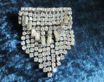 Vintage Diamante Brooch Art Deco