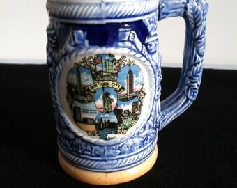 Vintage NYC souvenir beer mug