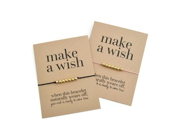 Make A Wish Bracelet, Friendship Bracelet, Stocking Stuffer, Wish Bracelet, Bridesmaid Gift, Big Little Sorority, Team Gifts, Thank You Gift