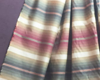 Woven Stripe Fabric - Serape Style Fabric - Rust Red and Green Serape Stripe Fabric - Craft Fabric - Sewing Purse Bag Pillow Fabric - 1 yard