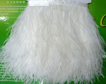 10 Yards/Lot Height 5-6inch white Ostrich Feather fringe Ostrich feather Trimming Feather fringe