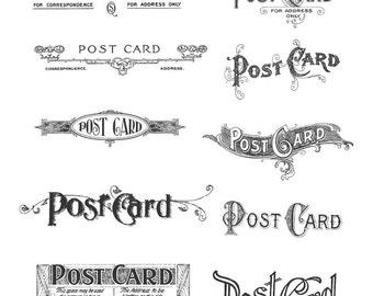 POSTCARDS - Tim Holtz Large Cling Rubber Stamp Set