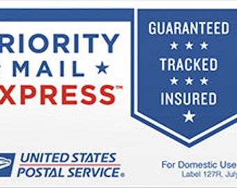Upgrade Shipping to Rush my Order and  Priority Express Mail w Insurance and Estimated Delivery Time of 1 to 2 Business Day ONLY USA ORDERS