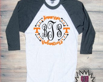Tennessee Vols T-shirt Adult  UT Volunteers Orange White Football Neyland SEC Unisex Cotton Ball Sports