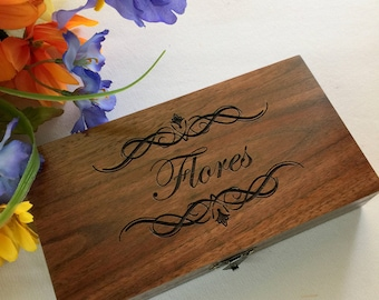 Ring Box, Wedding Ring Box, Jewelry Box, Engraved, Personalized, Custom Made Ring Box, Handcrafted Box,Personalized Ring Box,Engraved