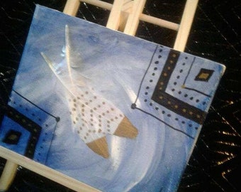 """Breaking away. 10""""w by 8""""L painting"""