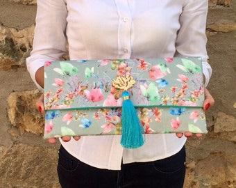 Clutch / Wedding Bag/ Fabric Purse/ Woman's Evening Bag/ Floral Clutch / Bridesmaids Gift