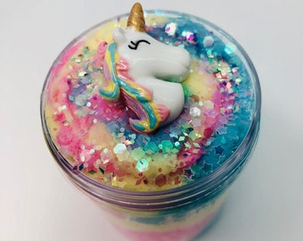 Unicorn Parfait ~ Marshmallow scented ~ Cloud Slime ~ Scented slime ~ Charm slime