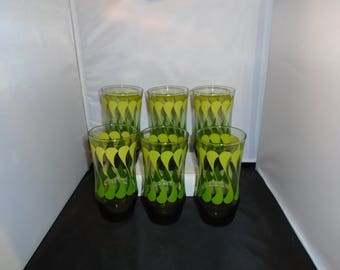 Bright Vintage Drinking Glasses