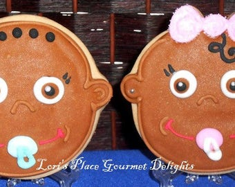 Bright Eyed Baby Face Cookies - 12 Cookies
