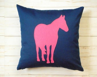 Horse Pillow Cover, Farmhouse Pillow Cover, Horse Decor, Horse silhouette, Gift for Equestrian or horse lover