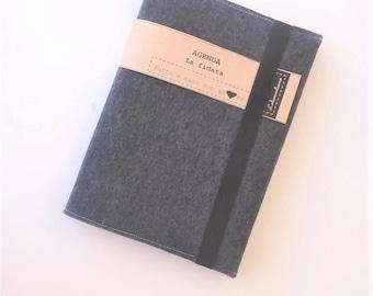 LA FIDATA -Agenda 2018 - Diary 2018 - felt cover - agenda - 2018 - planning