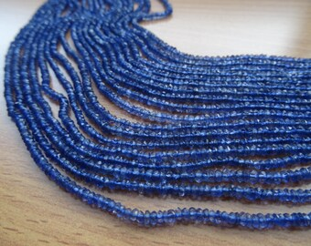 2.5 to 3.5 mm Natural Iolite Micro Faceted Rondelle Full 13 inch Strand-AAA+ Quality