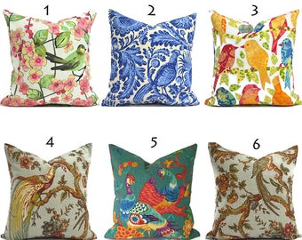 Pillow Covers ANY SIZE You Choose Decorative Pillow Cover Bird Pillow Covers