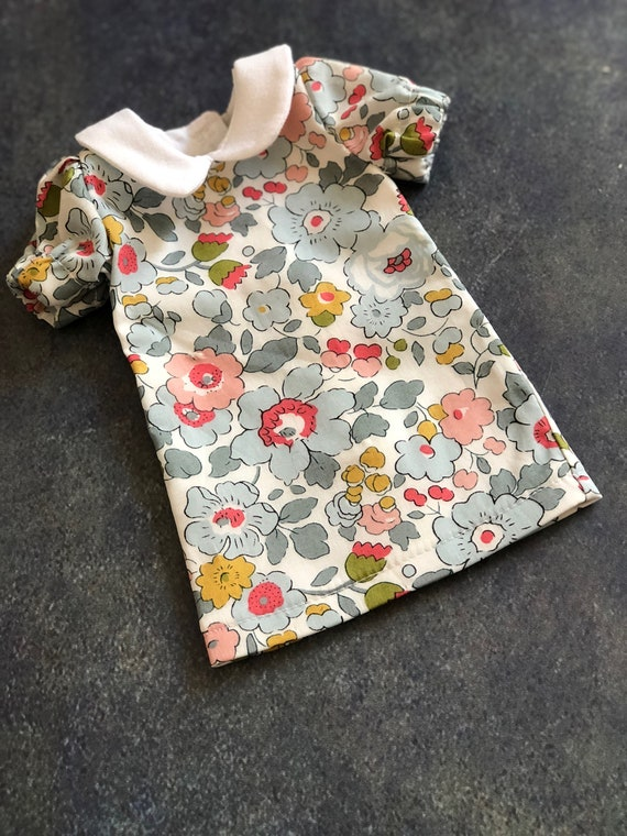 Small Doll Dress in Liberty Fabric