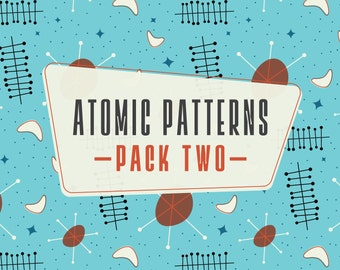 INSTANT DOWNLOAD! Atomic Patterns Pack 2: 4 Digital Scrapbook Papers