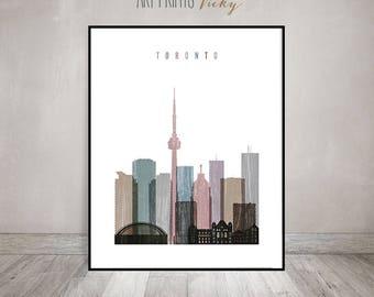 Toronto print, Poster, Wall art, Toronto skyline art, Distressed, Canada cityscape, City prints, wall art, Home Decor, Gift, ArtPrintsVicky