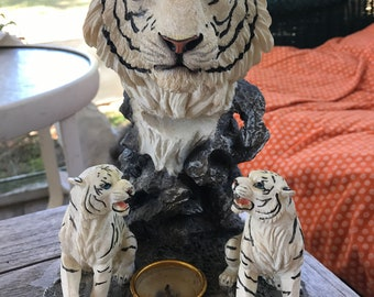 Avalo Sanctuary's White Tiger Candle Holder