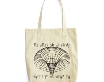 Black Hole science art shoulder tote bag