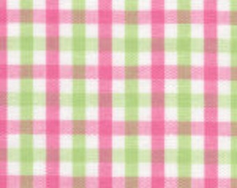 HALF YARD Pink and Green Fabric Finders Tri-check
