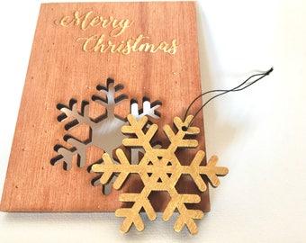 Unique Christmas ornament - snowflake gold