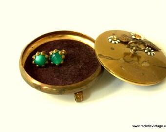 Vintage Jewellery Box, Jewelry Holder, Jewelry Boxes, Jewellry Box, Brass Trinket Box, Jewelry Storage, Vintage Jewelry Box,