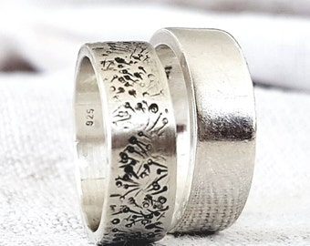 Silver Band Rings, Wedding Rings, Silver Rings, Timeless Rings, Campo di Fiori, Bridal Jewelry, Unisex Rings, Silver Jewelry, Handmade Rings