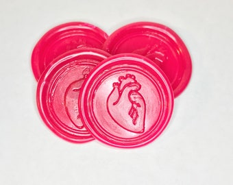 Heart Wax Envelope Seals