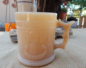 WHATABURGER Coffee Mug  ~  Whataburger Caramel Slag Glass Coffee Mug