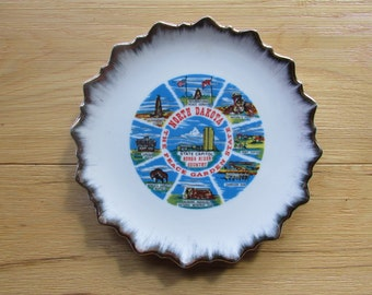 North Dakota Souvenir State Plate Collectable