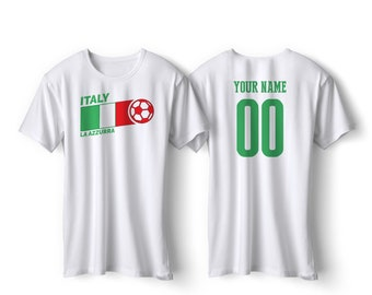 Italy National Team Italia Pride Customized name and Number World Cup Men, Youth, Infant, Kids, T-shirt, Tee, Bodysuit