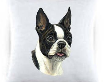 Boston Terrier Satin Throw Pillow 44032
