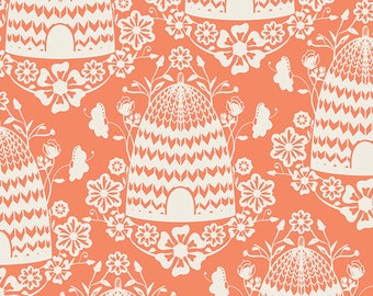 1 Yard of Sweet as Honey Honey House Peach by Bonnie Christine for Art Gallery Fabrics