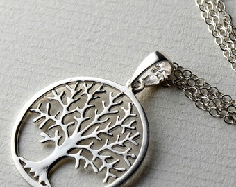 Tree Of Life Necklace, All Sterling Dainty Family Tree Sterling Silver Jewelry