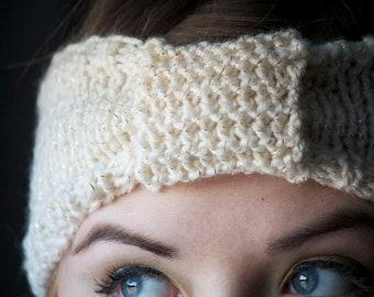 Headband/Ear Warmer - FIT FOR A PRINCESS - Hand Knit