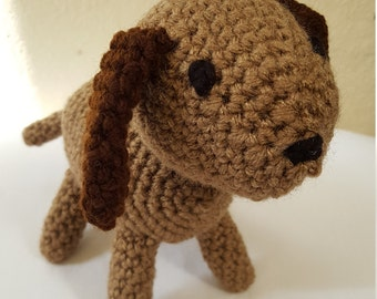 Crochet Puppy Dog Stuffed Animal / Brown/ Crochet Doll / Amigurumi Toy/ Handmade Toys/ Gift For Kids