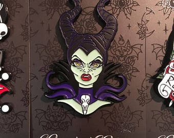 "Limited Edition ""Evil Mistress"" Enamel Pin by Miss Cherry Martini"