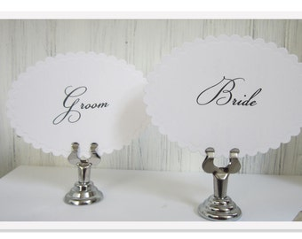 Table Number Stand, Silver Sign Holder, Wedding Table Number Holder, Card Holder, Table Decor, H01