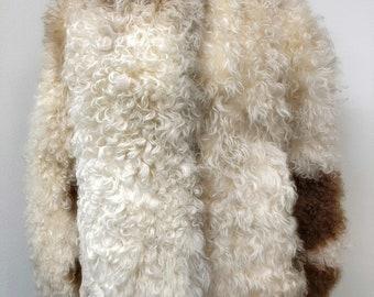 VTG 60s S/M Jacket Mongolian Tibetan Curly Lamb From Bullocks Los Angeles