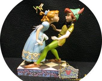 Peter, Wendy & Tinkerbel Wedding Cake Topper Disney Groom top Centerpiece figure Engagement, Birthday Figurine