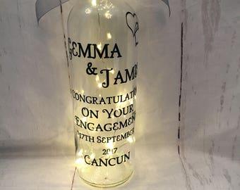 Engagement Light Up Wine Bottle