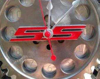 SS Chevrolet Camaro Gear Wall Clock Car Part Furniture Automotive Decor Man  Cave Industrial Steampunk Art